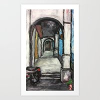 George Town Penang 5ft Way - Finger Painting Art Print