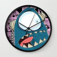 The Horror of it all BYRON  Wall Clock