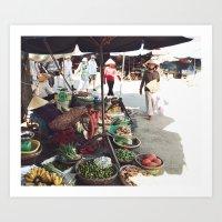Fruit Market, Hoi An.  Art Print