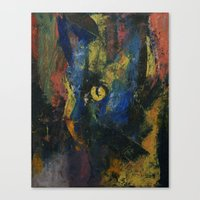 Blue Cat Canvas Print