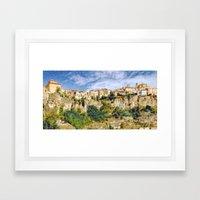 City on the edge of the rocks Framed Art Print