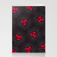 Burning Hearts Stationery Cards