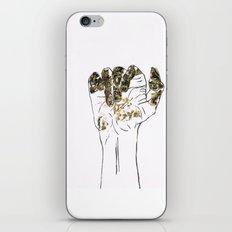 Golden hand iPhone & iPod Skin
