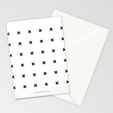 Black X on White Stationery Cards