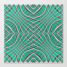 Grids and Grooves Canvas Print