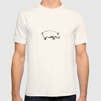 Pig Mens Fitted Tee Natural SMALL