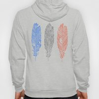Patterned Plumes Hoody