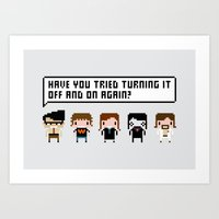 The IT Crowd Characters Art Print