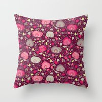 Fancy Floral Throw Pillow