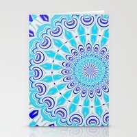 mandala blue Stationery Cards