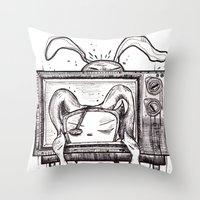 Something On? Throw Pillow