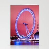 The London Eye, Pink Sky Stationery Cards