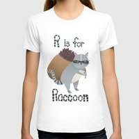 R is for Raccoon Womens Fitted Tee White SMALL