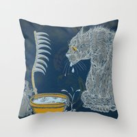 Vision of the Ninth Life Throw Pillow
