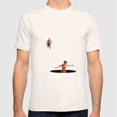 Lost Again Mens Fitted Tee Natural SMALL