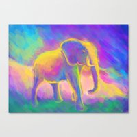 Elephant painting  Canvas Print