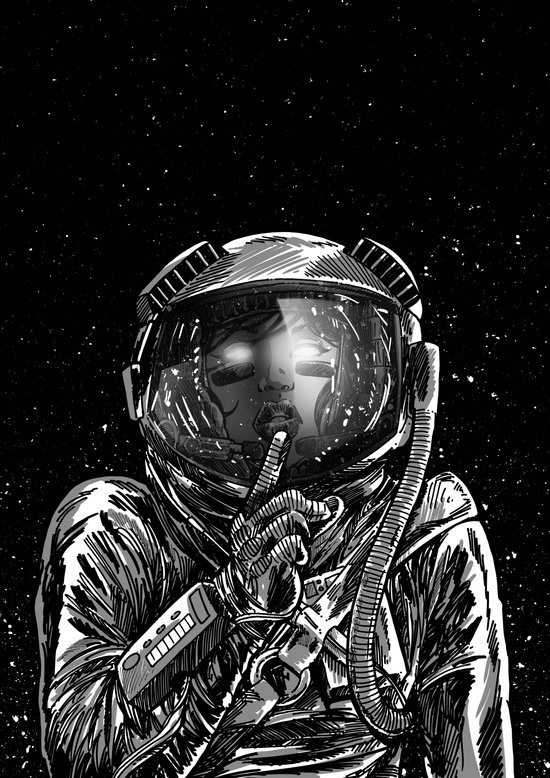 The Secrets of Space Art Print