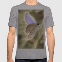 Purple Butterfly Mens Fitted Tee Athletic Grey SMALL