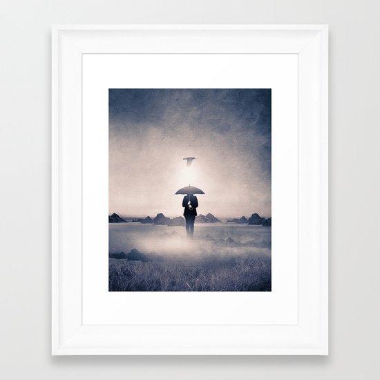 Waiting for the rain (colour option) Framed Art Print