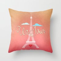 Un Jour Throw Pillow