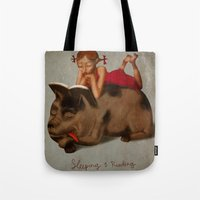 Sleeping & Reading Tote Bag