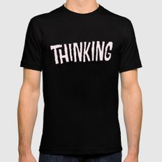 Is Anyone Thinking What I Am? Mens Fitted Tee Black SMALL