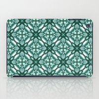 Watercolor Green Tile 3 iPad Case