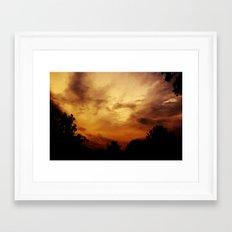 Fire Skies Framed Art Print