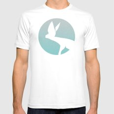 Hunting White Mens Fitted Tee SMALL