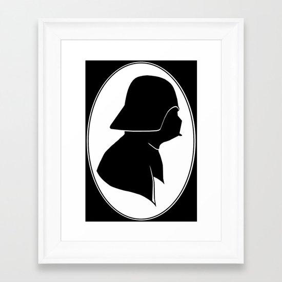 Dark Side Silhouette  Framed Art Print
