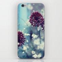 Flowers On Blue iPhone & iPod Skin