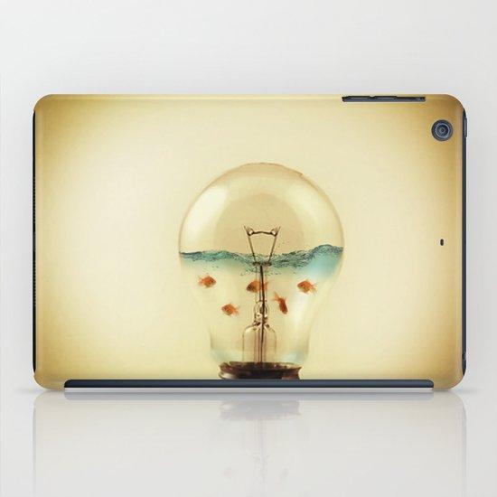 gold fish globe iPad Case