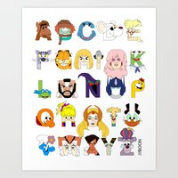 Child Of The 80s Alphabe… Art Print