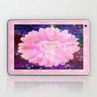 Pink flower with sparkles  Laptop & iPad Skin