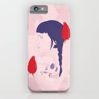 iPhone & iPod Case featuring skull+face by Eveline