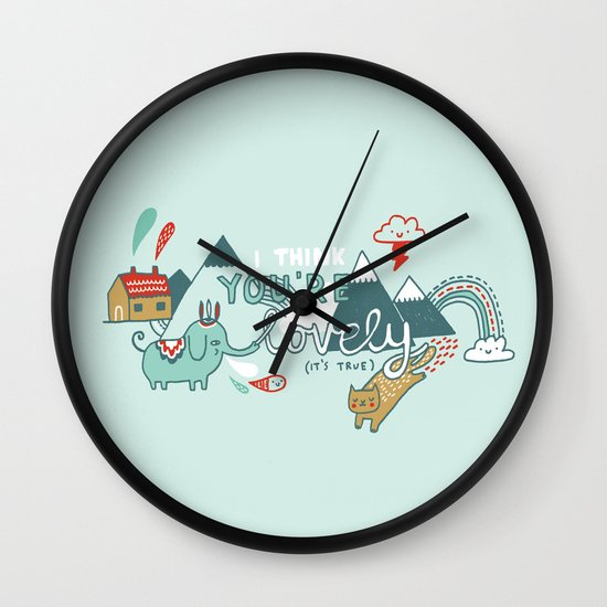 I Think You're Lovely Wall Clock