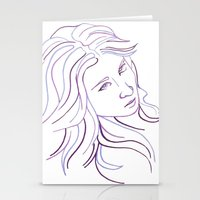 Purple Portrait Stationery Cards