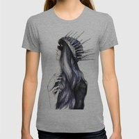 Ice Queen // Fashion Illustration Womens Fitted Tee Athletic Grey SMALL