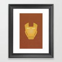 Minimalist IronMan Framed Art Print
