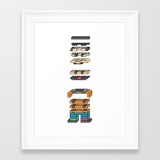 LEGO MAN  Framed Art Print