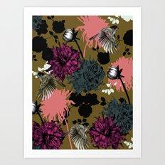 Flower Bomb Art Print