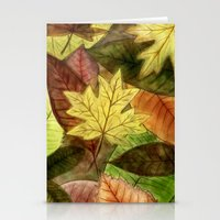 Autumn Leaves Stationery Cards