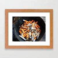 Smokers Addiction Framed Art Print