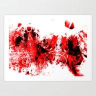 Liquid Red Art Print