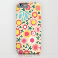 iPhone & iPod Case featuring Crowded Colourful Flowers by Emma Randall