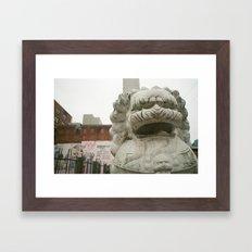 Guardian Lion Framed Art Print