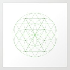 #129 Abloom – Geometry Daily Art Print