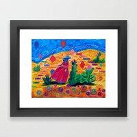 What's in the Desert Framed Art Print
