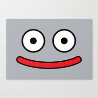 Dragon Quest's Metal Slime Canvas Print