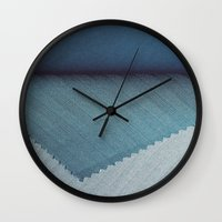 Blue Cover Wall Clock
